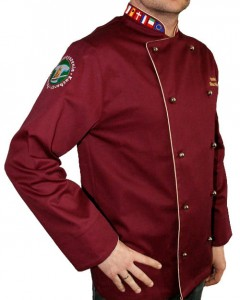 BLUZA KUCHARSKA bordowa Executive Chef Producent model Tryton